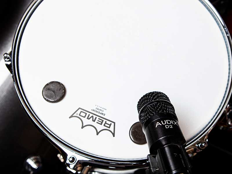Audix D2 micing up snare